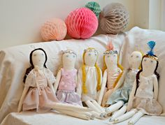 minina loves tutu party Baby Gifts, Clock, Dolls, Pattern, Kids, Handmade, Creatures, Sewing, Home Decor
