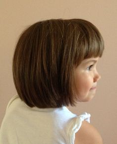 Little girl haircut. Bob hair cut. Shorter hairstyles for girls.