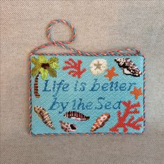 Life is better by the sea hanging sign ~ Canvas by Kirk & Bradley