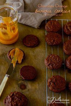 ... blood orange curd chocolate orange brownie cookies with blood orange