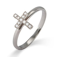 Stackable Reflections CZ Cross Stackable Ring $27