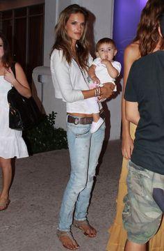Alessandra Ambrosio with Her Daughter in Miami Beach