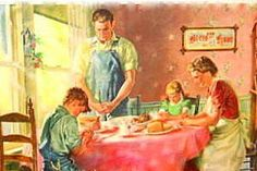 "Old-Fashioned Motherhood: A House of Order: ""Establishing a House of Prayer and Faith. Vintage Pictures, Vintage Images, Vintage Love, Vintage Art, Vintage Shoes, Vintage Housewife, Norman Rockwell, Family Life, Farm Family"