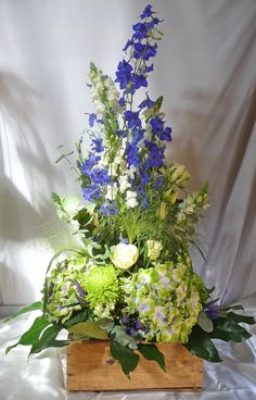 Our wide variety of flowers creates a wonderful gift for all Seasons and for every occasion. Blue Delphinium, Delphiniums, Chrysanthemums, Hydrangeas, Antirrhinum, Fountain Grass, Lilac Flowers, Grasses, White Roses