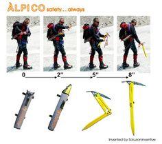 Carabiner development blog - tracking developments in rock climbing technology: Folding composite ice axe