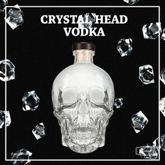 What better to entertain your friends with than extremely pure Vodka placed in a bottle that's shaped in the form of an infamous crystal skull? But here's the thing – this Vodka is really good. It was filtered 3 times through Herkimer diamonds, diamonds that are said to have healing properties... and other mystical powers ;)