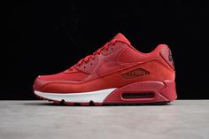 new styles 3c300 3e961 Real Nike Air Max 90 Essential Gym Red Black-White Mens Shoes For Sale -  ishoesdesign