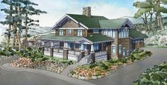 Home Plans HOMEPW75746 - 2,868 Square Feet, 3 Bedroom 2 Bathroom Craftsman Home with 2 Garage Bays