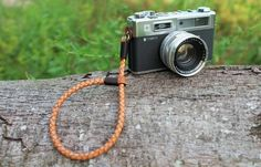 TorMake hand strap handmade from genuine leather color natural, that was braided to 8 mm that was braided for all Film,Digital , Mirrorless by TorMake on Etsy