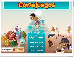 """""""Comejuegos"""" (Juegos de Alimentación de Primaria y Secundaria) Family Guy, Map, Fictional Characters, Science Area, School Supplies, School, Interactive Activities, Teaching Resources, Location Map"""