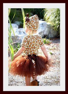 Halloween!!  Custom Boutique Giraffe tutu set...Birthday parties...dress up...Halloween costume..Photo shoot...size  12- 18 months 2t 3t 4t 5t 6. $85.00, via Etsy.
