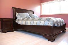 Solid Wood Sleigh Bedroom Set http://www.anne-quinn.com/
