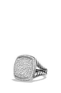 Women's David Yurman 'Albion' Ring with Diamonds - Diamond