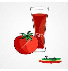 Tomato juice on VectorStock