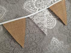 Sparkles Gems Wimpelkette/Girlande/Banner für Hochzeit, Jute, Spitze, Party-Dekoration, rustikal Sparkles Gems http://www.amazon.de/dp/B00YHCZOYE/ref=cm_sw_r_pi_dp_c8qLwb0B93HQ3