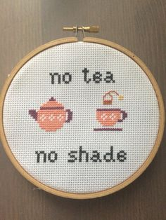 No Tea No Shade RuPaul's Drag Race Cross Stitch by ChicagoStitch