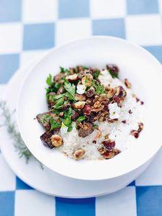 Ριζότο με κινόα, μανιτάρια και φουντούκια (προετοιμασία: 25΄, μαγείρεμα: 25΄)