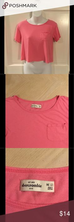 Girls Abercrombie Crop Top Girls Abercrombie Kids Crop T-Shirt Top. Soft cotton material. In used - good condition. SIZE MEDIUM 12. abercrombie kids Shirts & Tops Tees - Short Sleeve