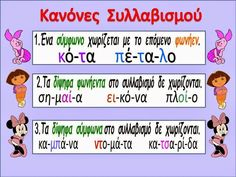 Primary School, Elementary Schools, Grammar Posters, Learn Greek, Greek Alphabet, Greek Language, School Levels, School Staff, School Lessons