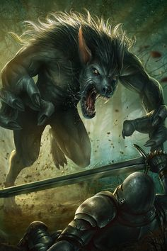 Hahahahahha the werewolf kills the dragon slayer! beautiful story!