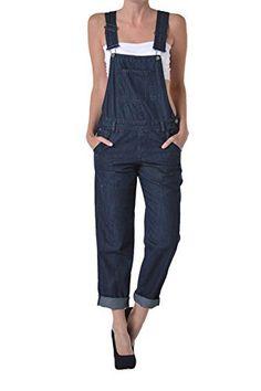 Bandeau Boyfriend Overall royalbl XS S M L Donna Jumpsuit Onepiece Pump Pantaloni Top
