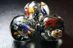 Little creatures in glass beads, Saigendo, Okinawa, Japan
