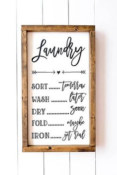 Cheeky Sign for Your Farmhouse Laundry Room