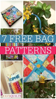 """How to Quilt a Bag With Style: 7 Free Bag Patterns and Purse Patterns"" eBook"