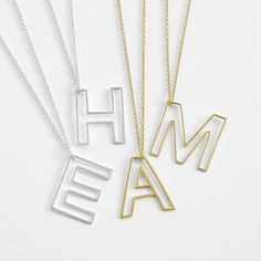 Personalized Letter Necklace | Luvocracy
