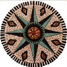 Cobblestone Mosaic ~ Beautiful Compass~ Mary Howarth Designs.