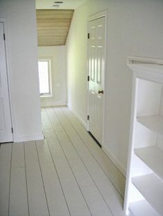 If wood floors not in good shape, paint with white with a bit of green. Not nearly as dark as this.
