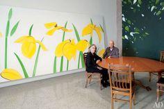 Inicio del artista Alex Katz y Studio en Nueva York: Celebrity Style: Architectural Digest