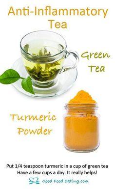 Green Tea + Turmeric = Powerful Combination #greentea #turmeric #benefits http://tealove.org/different-types-of-tea/best-green-tea/