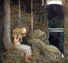 """Art by John Bauer (1915) - """"Tomtar Och Troll."""" Translated as """"Among Gnomes And Trolls."""""""