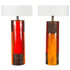 Unique Pair of Raymor Table Lamps   From a unique collection of antique and modern table lamps at http://www.1stdibs.com/furniture/lighting/table-lamps/