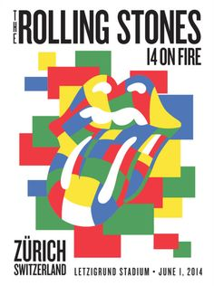 Check out Rolling Stones Zurich Corbusier Poster on Rolling Stones Music, Rolling Stones Tour, Le Corbusier, Rolling Stones Album Covers, Tour Posters, Music Posters, El Rock And Roll, Rollin Stones, Festival Posters
