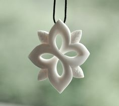 Bone Snow flake Star direction symbol  Handcarved in by JackieTump