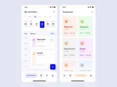 Medicine Reminder App Concept by Eugeniusz Eudokimow for start-up.house on Dribbble app Medicine Reminder App Concept Ui Design Mobile, App Ui Design, Interface Design, Design Design, Layout Design, Medicine Reminder App, Calendar Ui, Calendar Design, To Do App