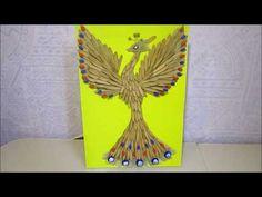 (6) Жар птица,осенняя поделка из природного материала. - YouTube