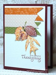 Stamping with Klass: Leaves and Banners