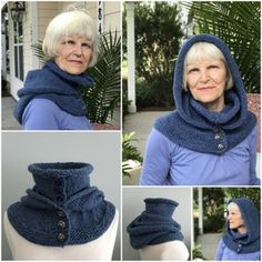 Outlander Knitting Patterns, Hand Knitting, Snood Knitting Pattern, Double Knitting, Knit Crochet, Crochet Hats, Ravelry Crochet, Hooded Cowl, Knit In The Round