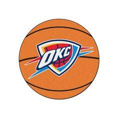 Fanmats Oklahoma City Thunder Basketball Rug, Multicolor