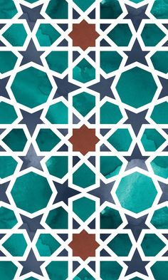 Create an iconic world-inspired space with a stylish faux tile floor design that incorporates traditional techniques of Islamic Geometry and hand-painted watercolours. After studying and practising th Islamic Art Pattern, Arabic Pattern, Persian Pattern, Tile Effect Vinyl Flooring, Tile Floor, Geometric Designs, Geometric Art, Tile Patterns, Pattern Art