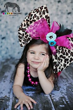 So, yeah... I like big bows on my daughter but seriously?