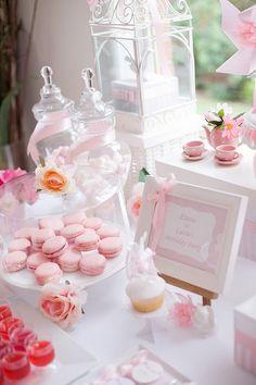 This little tea set would make a cute centerpiece  Tangled + Enchanted Garden Birthday Princess Party - Kara's Party Ideas -