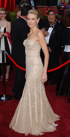 Naomi Watts in Versace at the 2004 Academy Awards