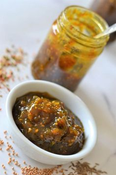 Old Fashioned Green Tomato Chutney | Relish | The Cooking Collective Green Tomato Chutney Recipe, Green Tomato Relish, Green Tomato Recipes, Green Tomatoes, Green Chutney, Relish Recipes, Chutney Recipes, Jam Recipes, Cooking Recipes