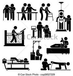 Resultado de imagen para fisioterapia y rehabilitacion dibujos