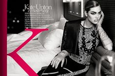 Kate Upton Goes Film Noir For Yet Another Vogue Cover #Refinery29