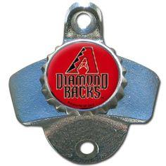 MLB Arizona Diamondbacks Wall Bottle Opener by Siskiyou. $11.69. Heavy duty metal bottle opener that mounts to your wall, deck or bar. The bottle opener features a Arizona Diamondbacks team logo dome.(mounting screws not included)
